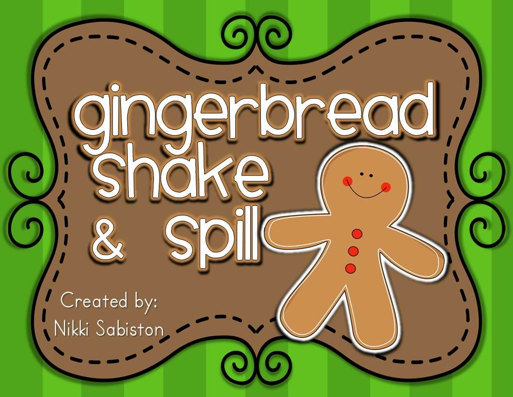 Gingerbread Shake And Spill Math