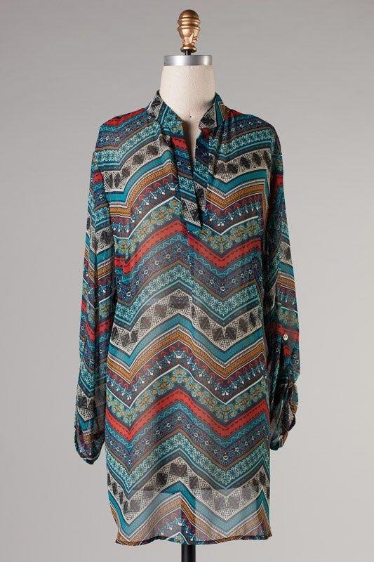 Online Clothing Boutique | Kelly Brett Boutique - Plus Size Top Zig Zag Blue, $22.00 (http://www.kellybrettboutique.com/plus-size-top-zig-zag-blue/)