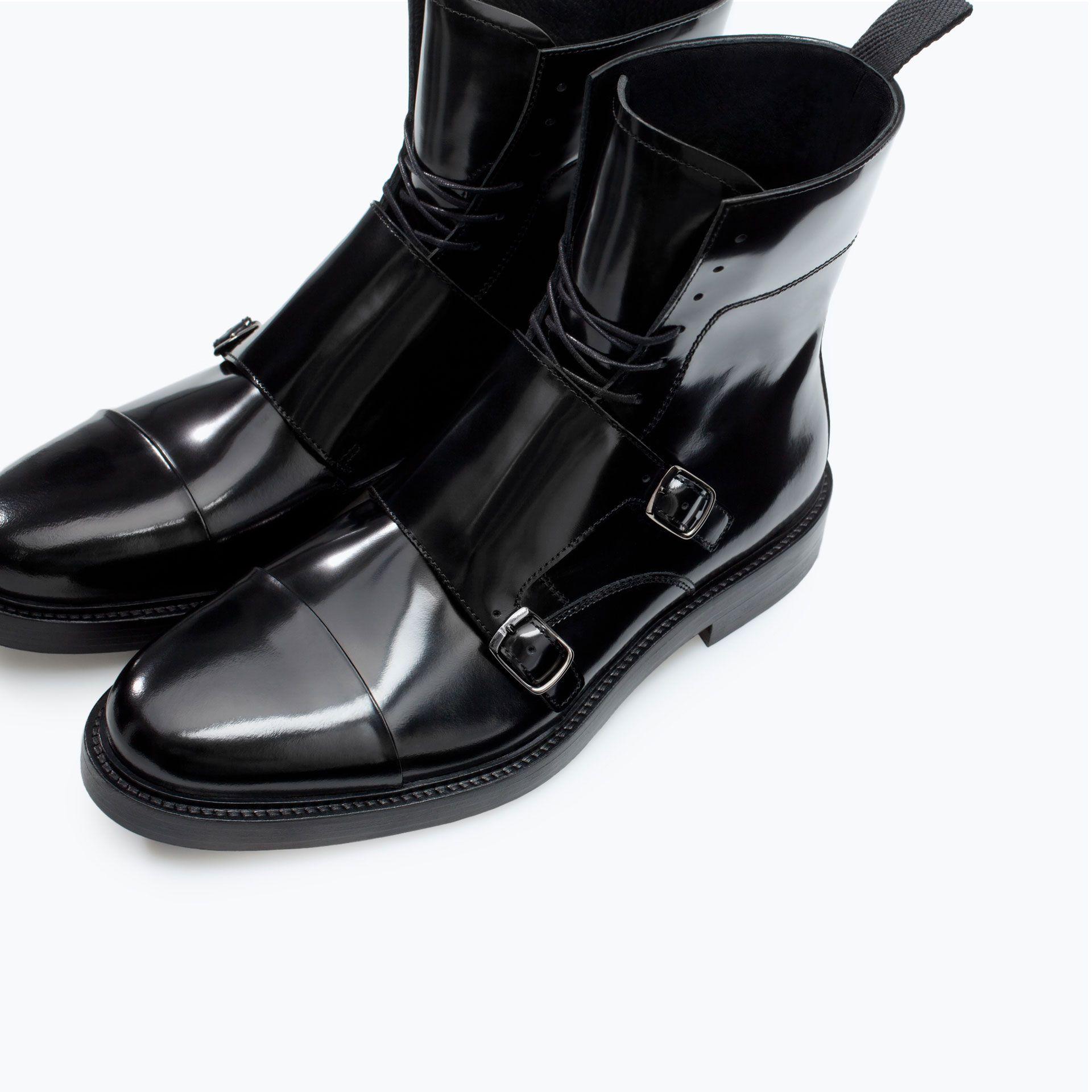 économiser 0f4bf 0f17f Zara | BOTTES EN CUIR AVEC BOUCLES | Boots Homme | Bottines ...