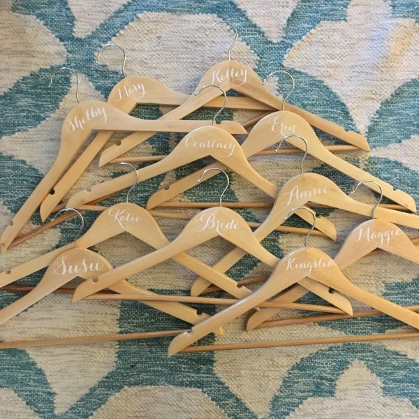 Make Customized Wedding Hangers For Your Bridal Party Using A - Diy vinyl wedding hangers