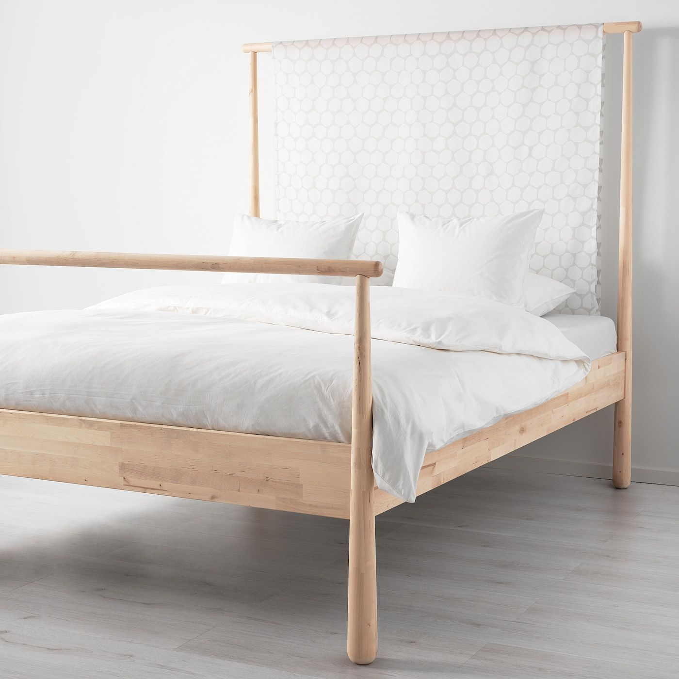 Gjora Bed Frame Birch Queen In 2020 Ikea Bed Bed Frame Ikea