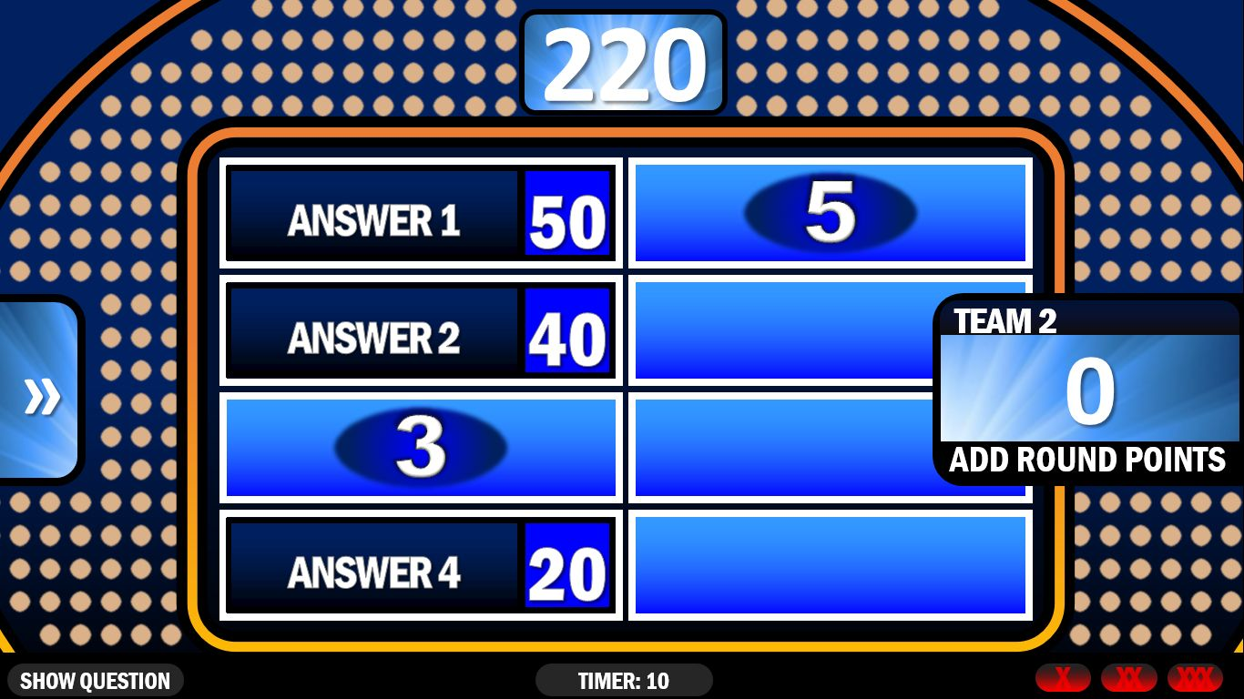 Family Feud In 2020 Family Feud Game Family Feud Powerpoint Games