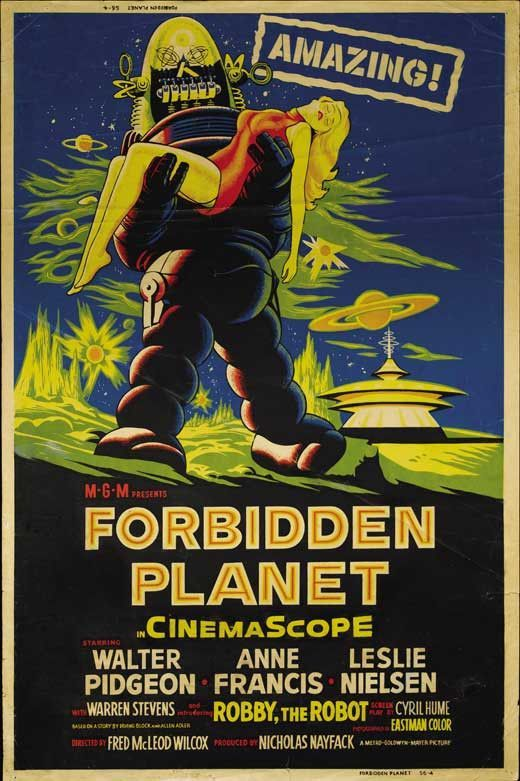 Forbidden Planet 27x40 Movie Poster (1956)