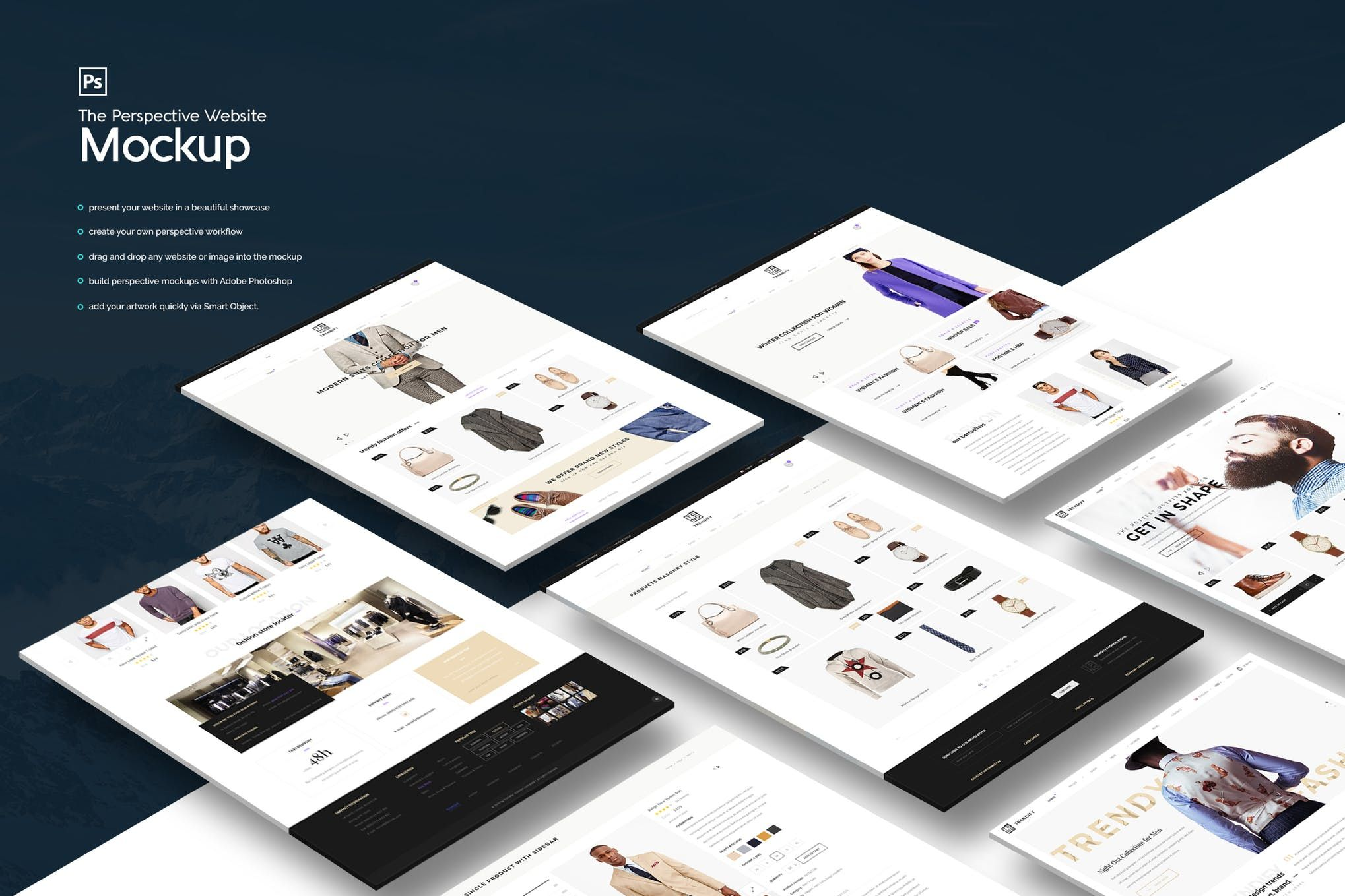 The Perspective Website Mockup   Multimedia   Mockup templates, Web