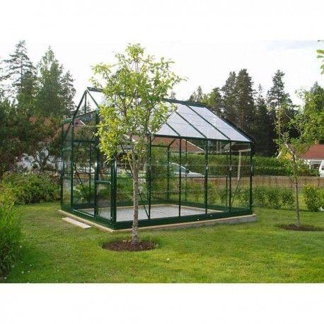 Serre De Jardin En Alu Vert En Verre Trempé 756m² Darina