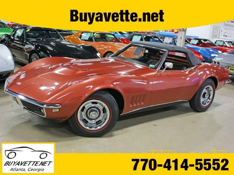 1968 Corvette Convertible For Sale Georgia 1968 Corvette L89 Convertible 56k 404457 Listing 80430 Corvette Convertible Corvette Chevy Corvette For Sale
