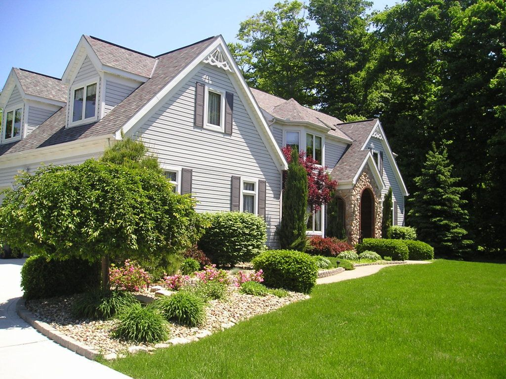 Bestes hausfrontdesign pin by vie on exterior  pinterest  landscaping design and gardens