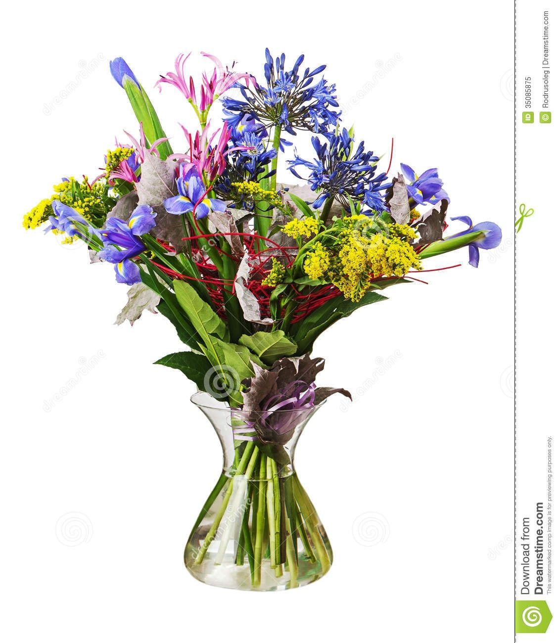 241 & colorful flowers in vases | Stock Photo: Colorful flower bouquet ...