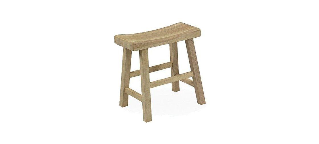 Peachy Ready To Finish Saddle Seat 18 Barstool Hardwood Natural Machost Co Dining Chair Design Ideas Machostcouk