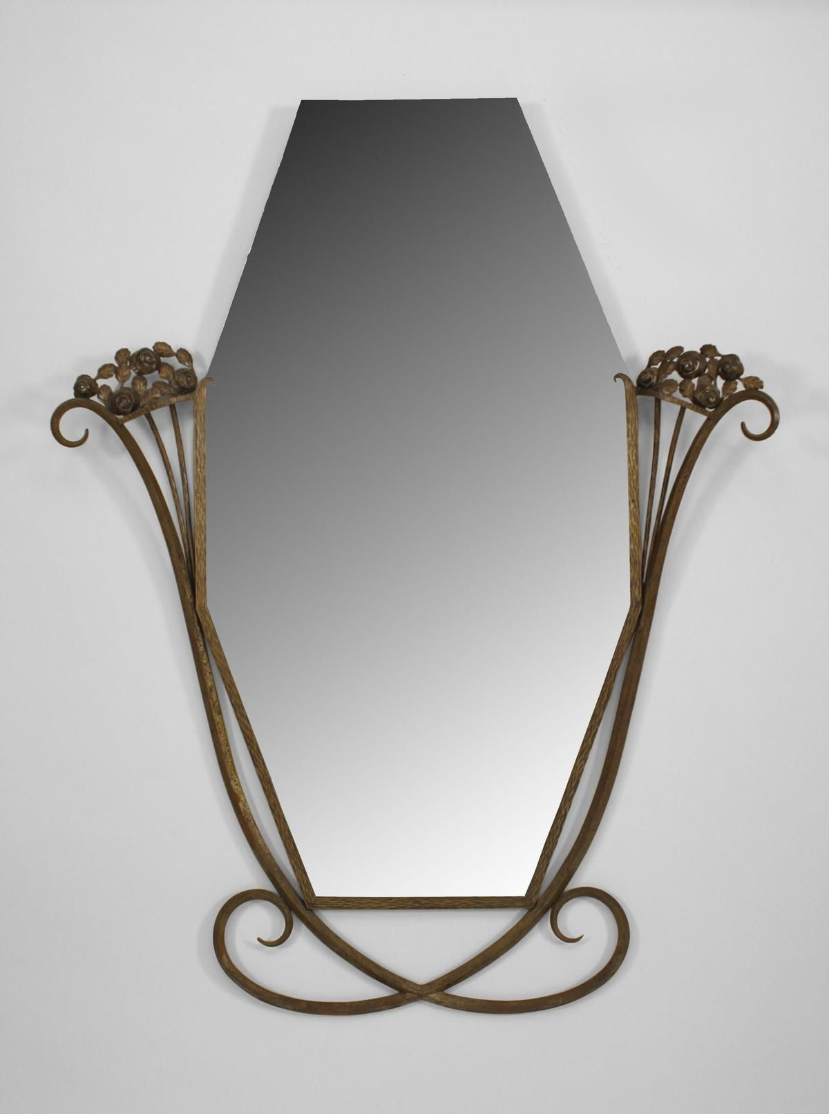 French Art Deco antique wall mirror. French Art Deco ...