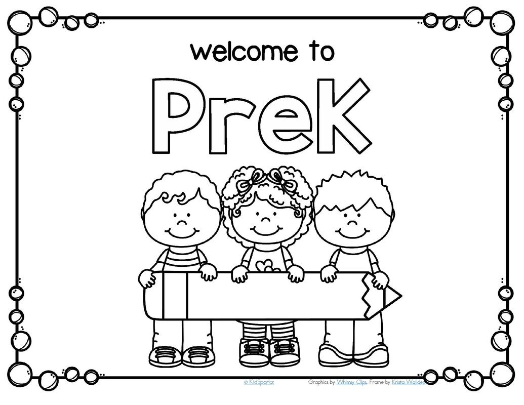 Free Back To School Welcome Poster For Prek Write Child S Name In The Pencil Welcome To School Preschool Coloring Pages School Coloring Pages