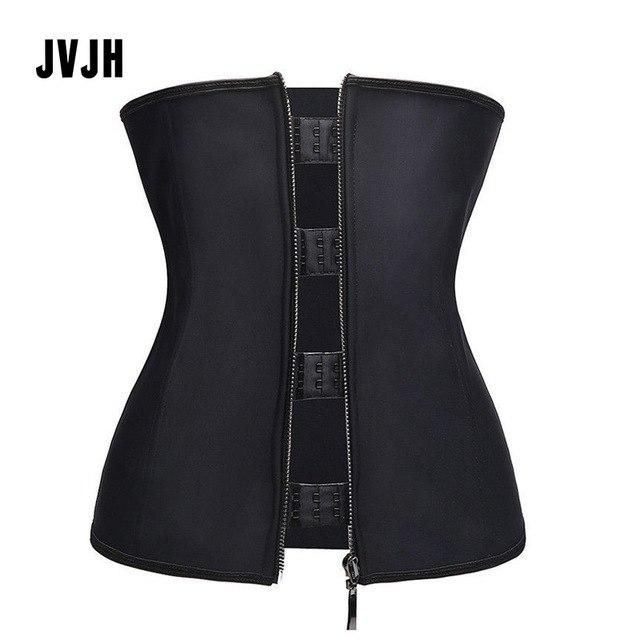 7971d5d9d43 Women sexy Hooks Zipper underbust Waist Trainer Cincher Corsets Bustier  body shaper Corset Top Slimming belt Shapewear plus size