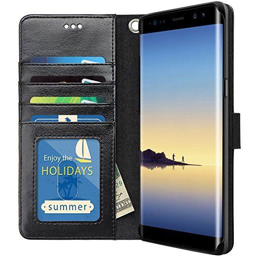 buy online 2b822 d7463 Amazon.com: Galaxy Note 8 Case, K-Moze Galaxy Note 8 Wallet Case [4 ...