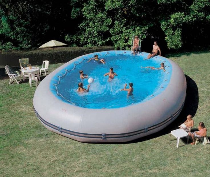 Aboveground swimming pool inflatable fabric outdoor