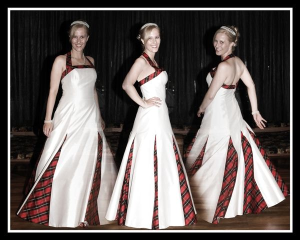 Wedding dress with tartan. | Tartan dresses | Pinterest | Brautkleid