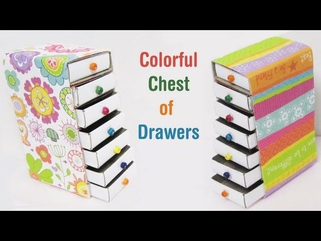doll furniture recycled materials. How To Make A Colorful Mini Chest Of Drawers Using Recycled Materials - EP Doll Furniture U