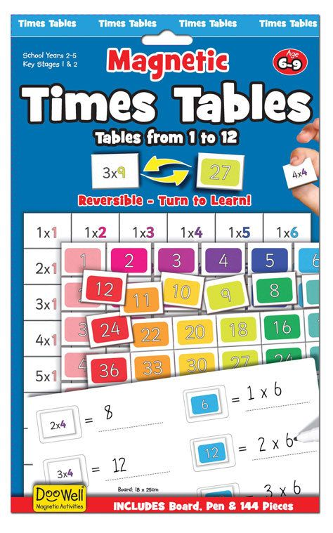 Magnetic Learning Activities Times Tables | Educational ...