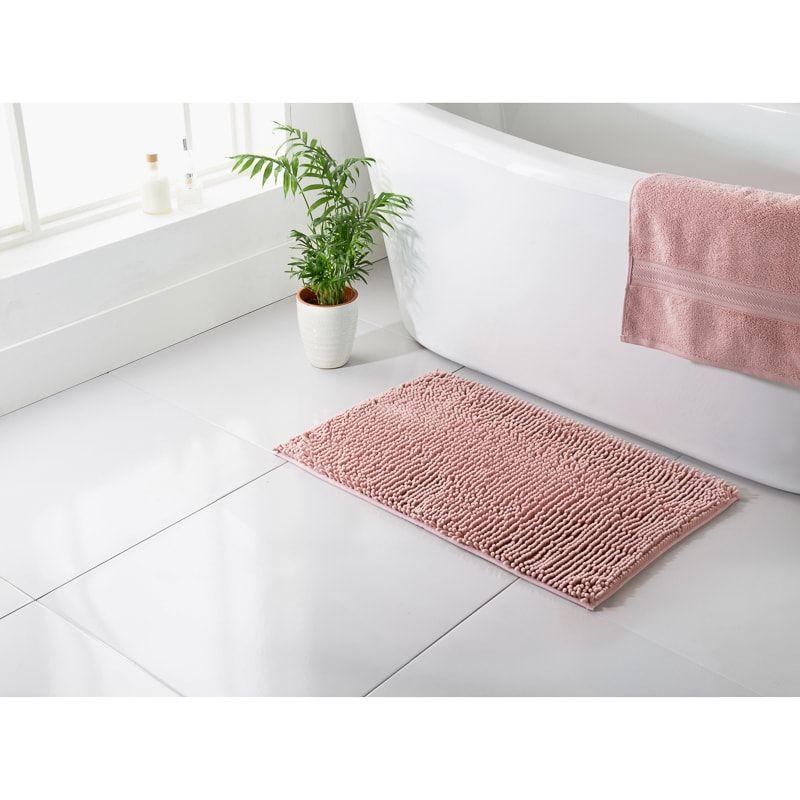 Signature Microfibre Noodle Bath Mat Blush In 2020 Bath Mat