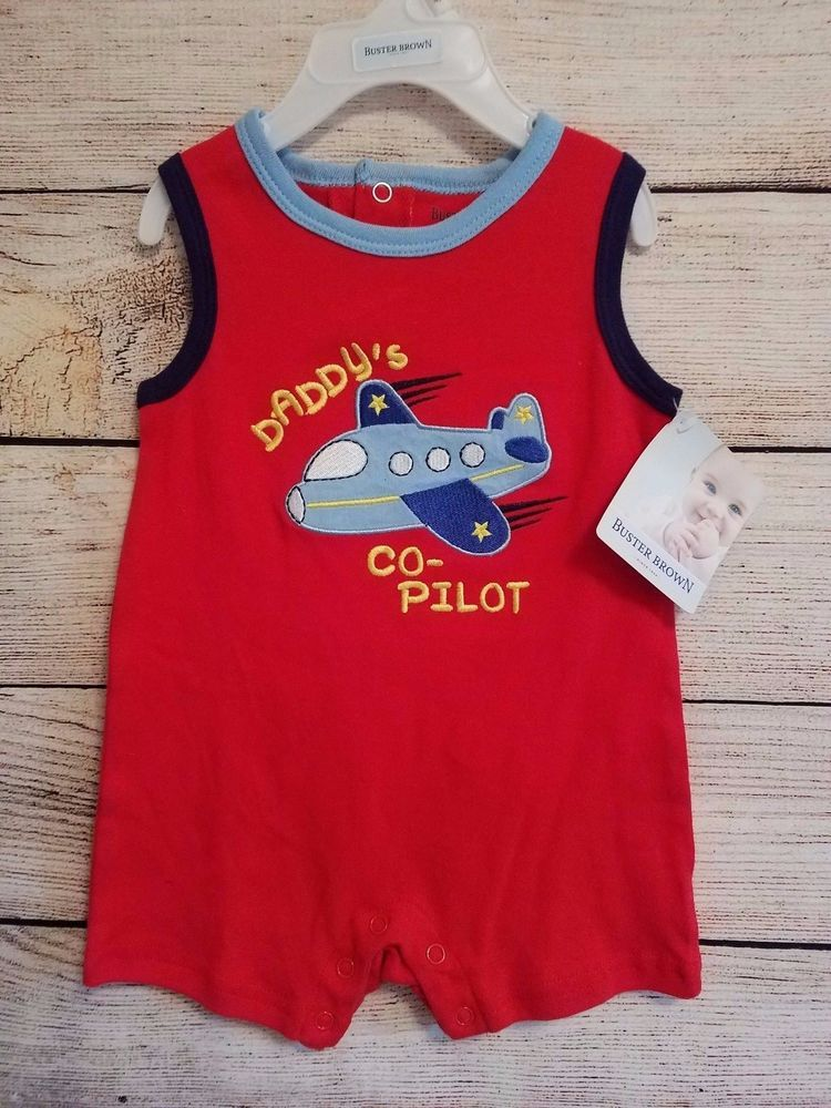 81b650d6b Buster Brown sz 6 9 month Boys One-piece outfit 100% cotton New ...