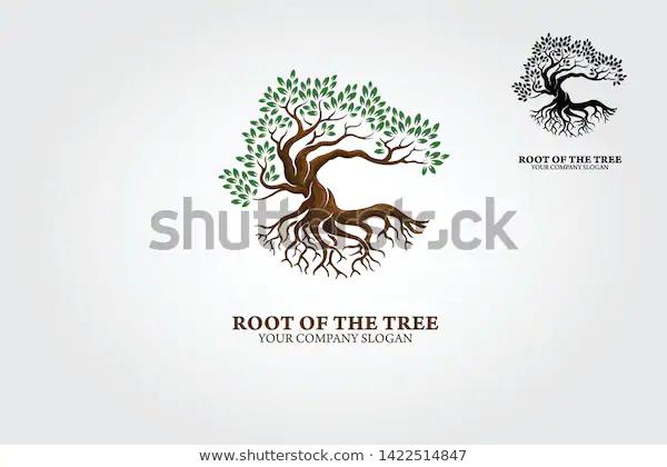 Root Tree Logo Illustrating Tree Roots Stock Vector Royalty Free 1422514847 Tree Logos Tree Roots Tree
