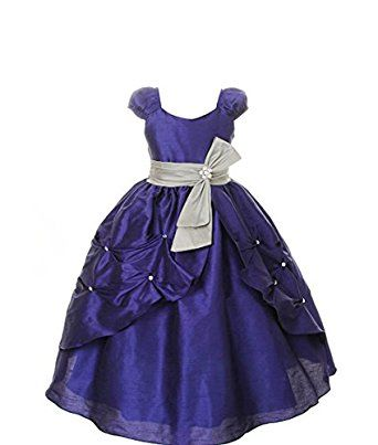 fca3506da0 Pink Wings Girls' Ball Gown (PWDGR6744_blue Dupioni_1-2 Years ...