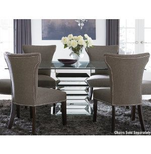 glass-mirror mirage ii table | casual dining | dining rooms | art