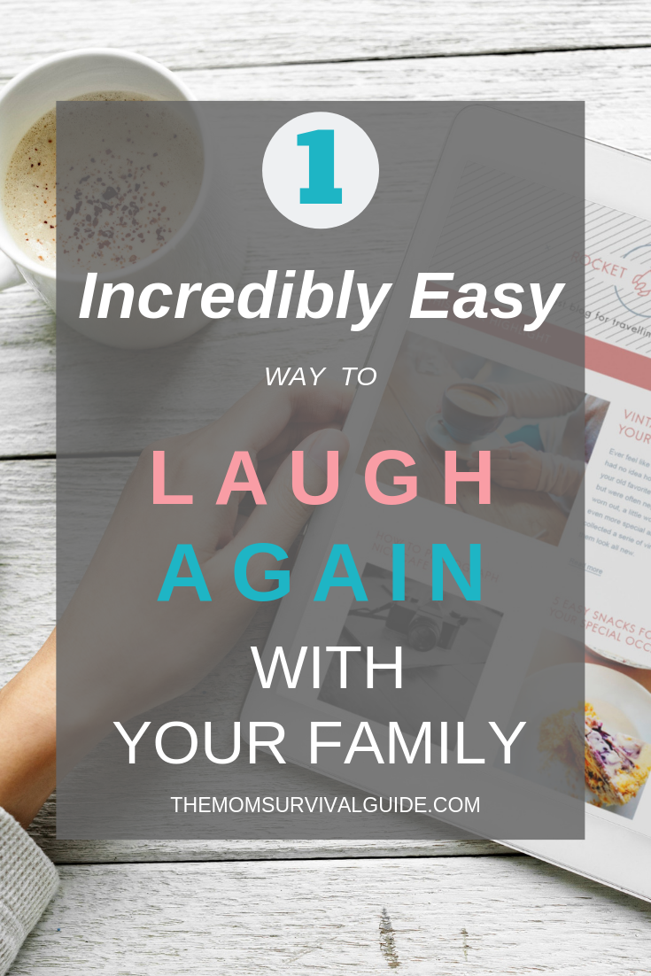 Find the time to laugh again with your family by getting organized and taking back your life! #takebackyourlife #empoweryourself #havefunagain #organization #getorganized #newyears #resolution #starttheyearright #timemanagement #funwithfamily #mom stayathomemom #SAHM #laugh #family