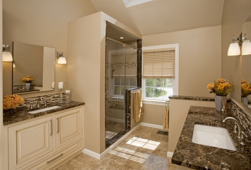 Transitional Elegance Bath Design Blue Bell Pa A Warm Elegant And - Simple-master-bathroom