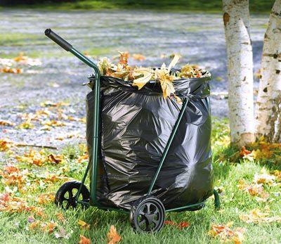 Good New Rolling Lawn Trash Bag Holder