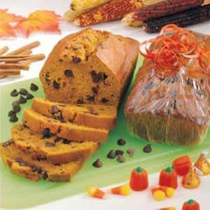 Copycat Great Harvest Pumpkin Chocolate Chip Bread.