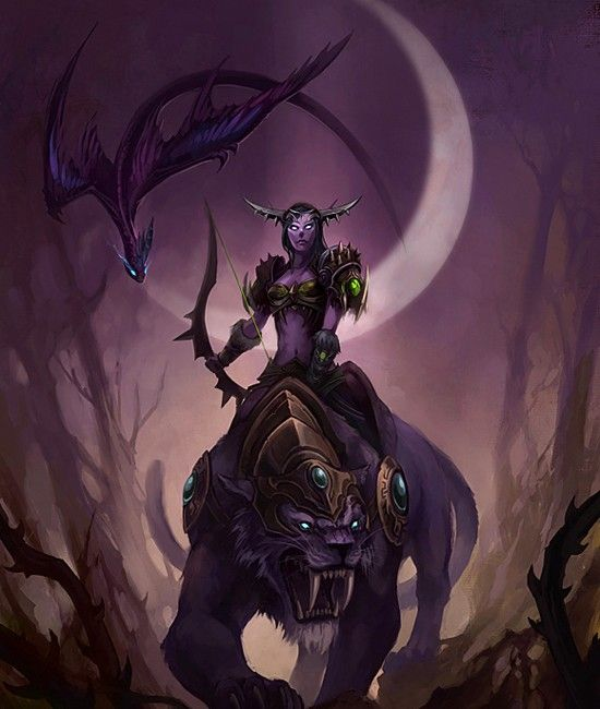 Huntress Of The Moon I Have A Blood Elf Hunter But Night Elves