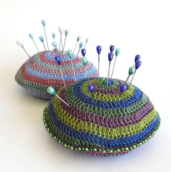 Crochet pin cushion - pincushion pattern - spiral crochet pattern ...