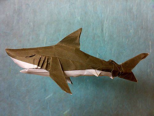 Origami Great White Shark By Syahmir