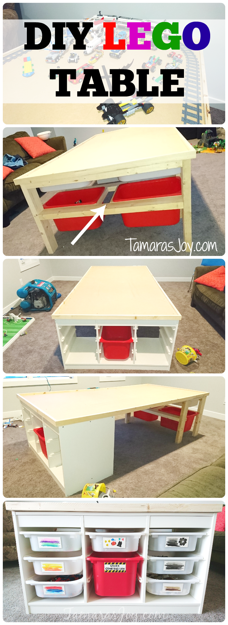 use this ikea hack to make your own big deal diy lego table this diy lego table uses the ikea trofast toy sorter as a base and builds from there easy build
