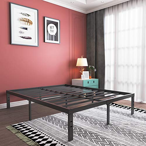 16 Inch Queen Platform Bed Frame Heavy Duty Strong Steel Bed Base High Weight In 2020 Platform Bed Frame Queen Platform Bed Frame Bed Frame