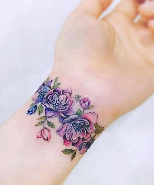Delightful Flower Wrist Band Tattoo Designs For Girls  My Style  Tattoo Bracelet, Tattoos -4692