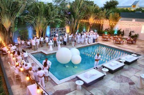 White Pool Party Google Search Luxury Pool Party White Party