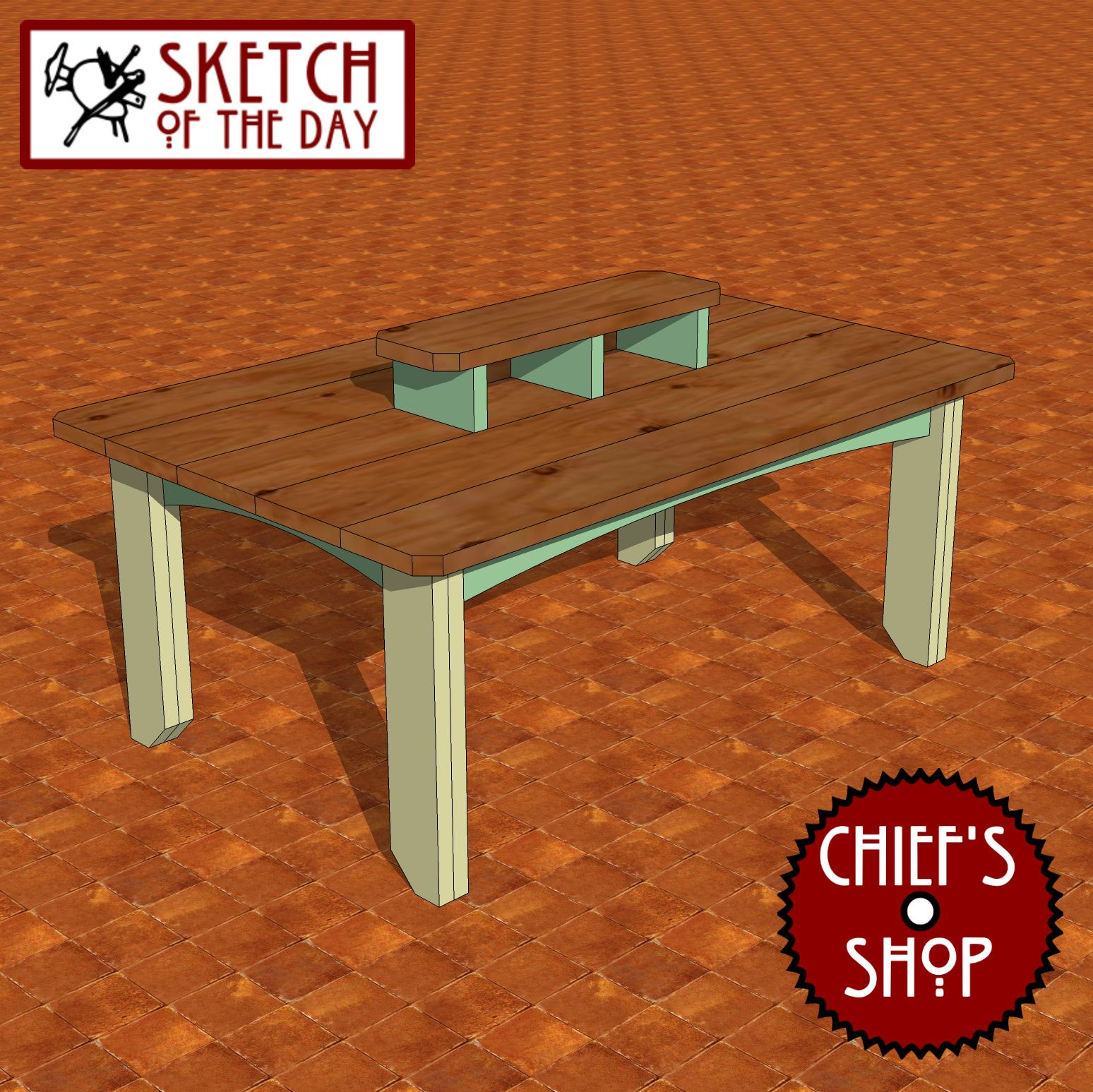 Sketch Of The Day Party Table Woodworking Chiefsshop Table Party Table Table Design