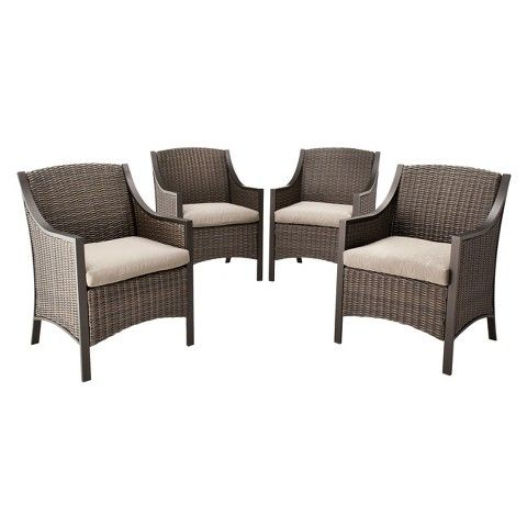 patio chairs threshold casetta 4piece wicker patio dining chair set