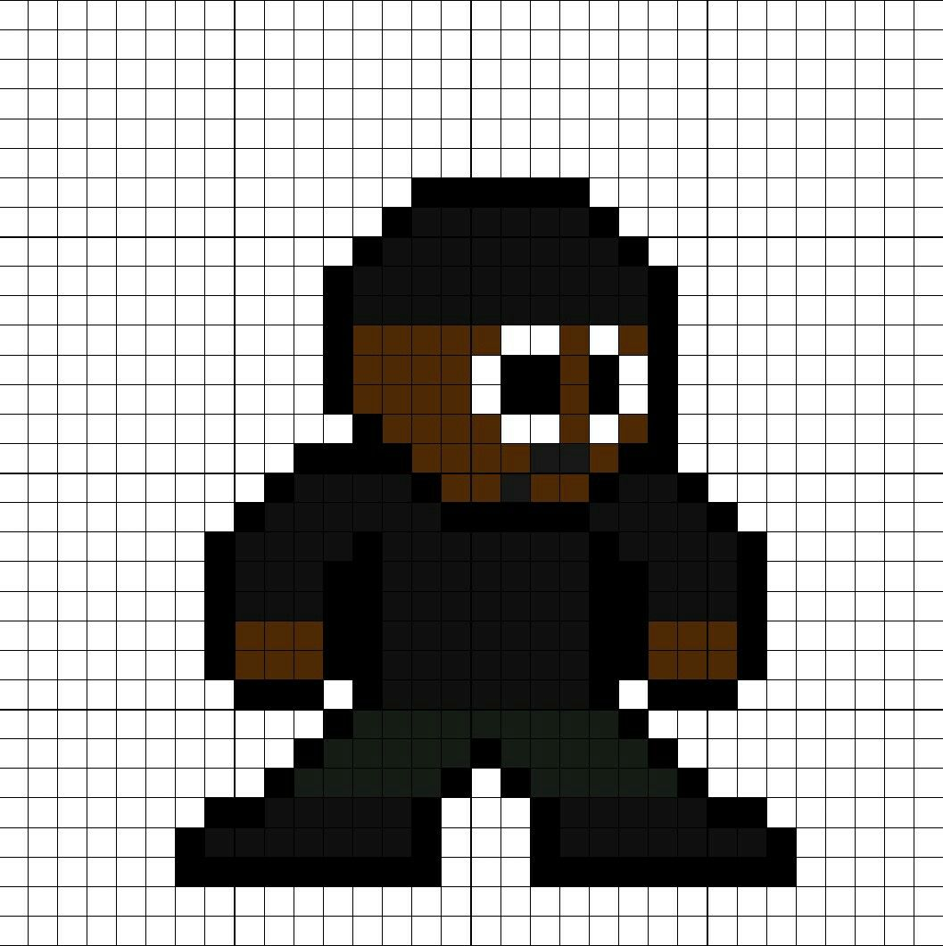 Joe West Cw Series Perler Bead Pattern