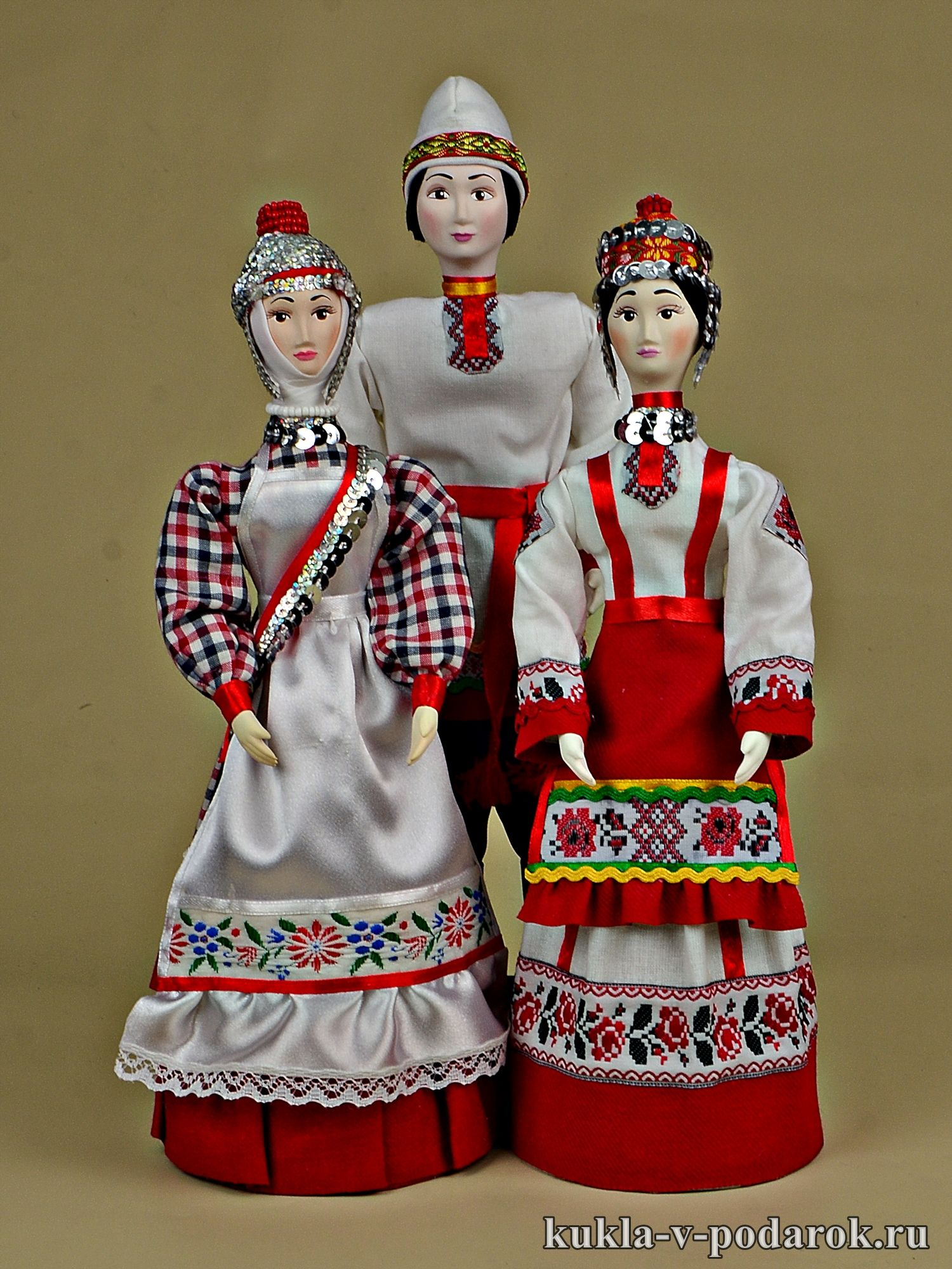 Чувашские куклы в национальном костюме. Ручная работа ...