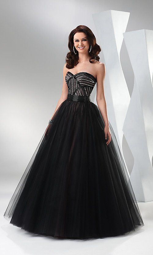 Black And White Ball Gowns | Elegant Black Ball Gown by Flirt ...