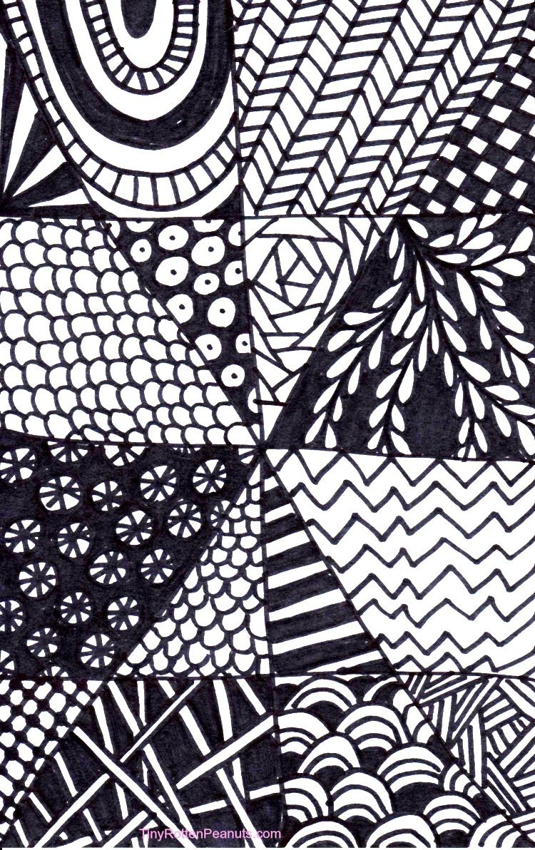 Quick And Easy Tangle Drawing Craftwhack Easy Patterns To Draw Easy Zentangle Patterns Tangled Drawing