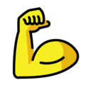 Flexed Biceps Emoji In 2021 Biceps Bicep Muscle Flex