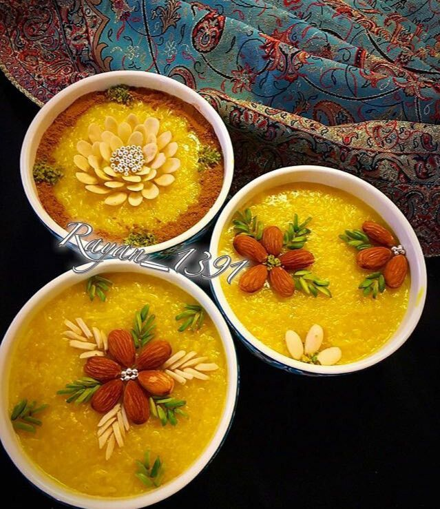 These Are So Pretty شله زرد سفره افطار Persian Cuisine Iranian Cuisine Persian Food