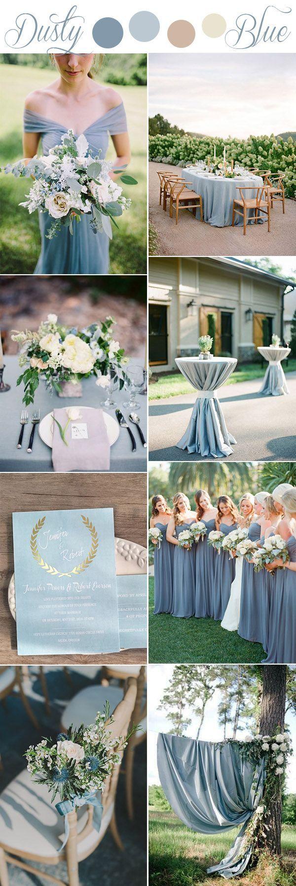 Wedding decorations reception october 2018 romantic softest dusty blue rustic wedding color ideas  Wedding