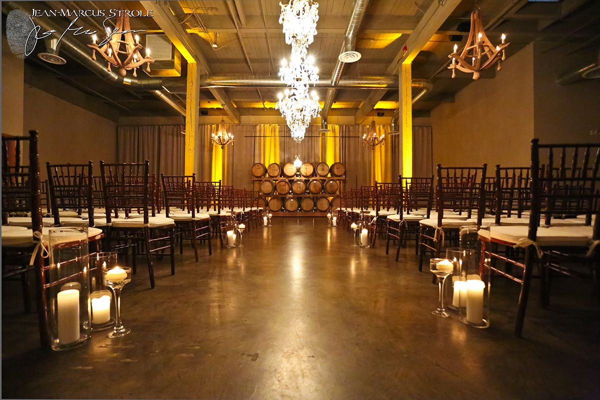 Wedding Photography of the ceremony aisle at The Foundry