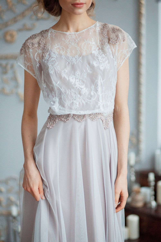 Wedding dress cups  Adrianna  Boneless light wedding dress with soft cups  Pale beige