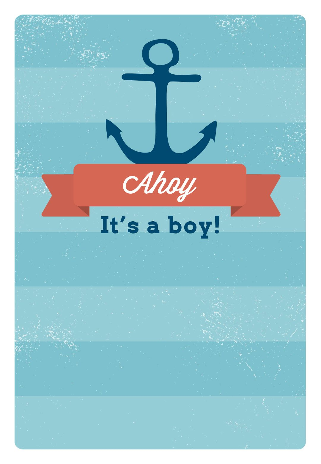 Free Printable Baby Shower Invitation - Ahoy It\'s a Boy | Greetings ...