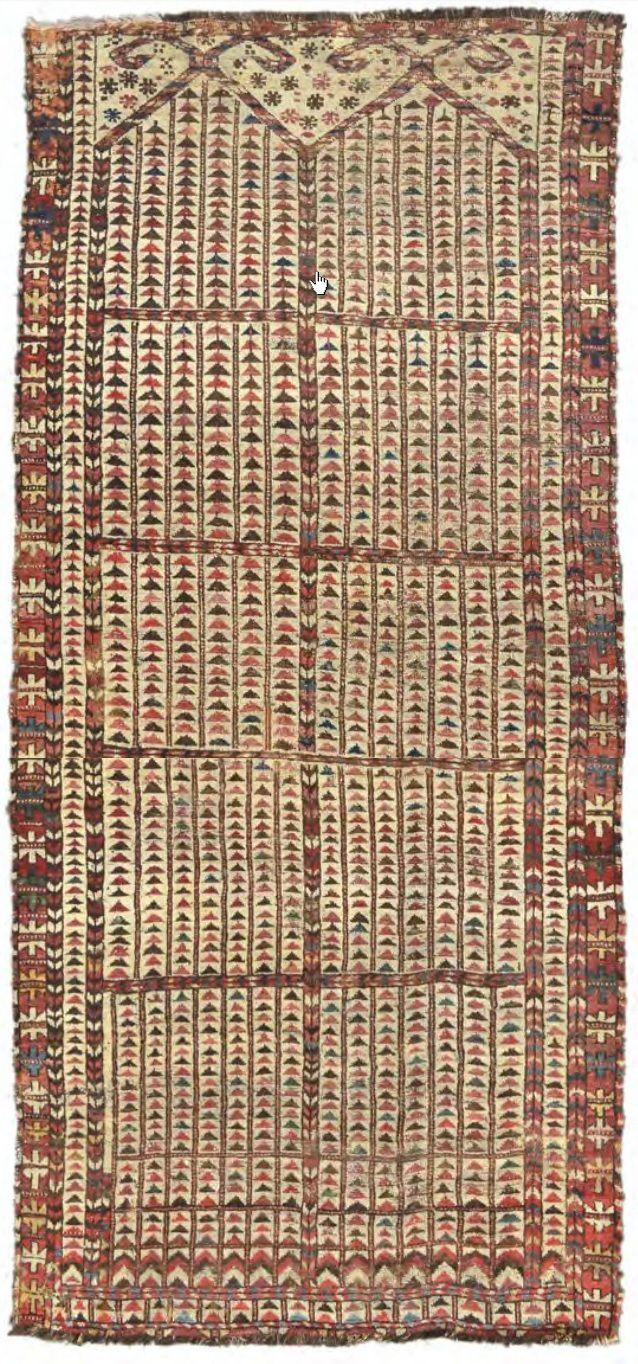 Pin di Vincent Castagnacci su Turkmen Carpets Tappeti